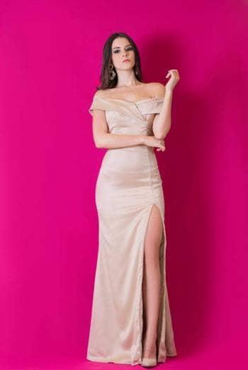 Vestido rosado en seda