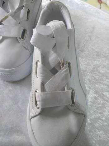 Tenis blancos plataforma