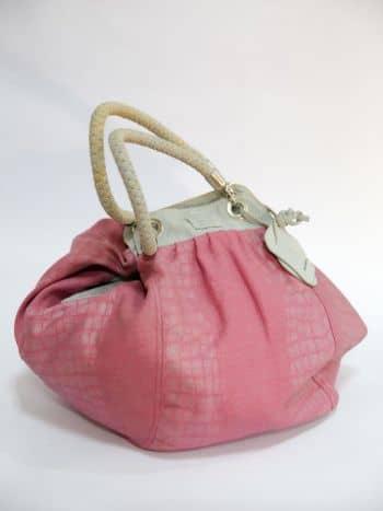 Bolso en tela rosado
