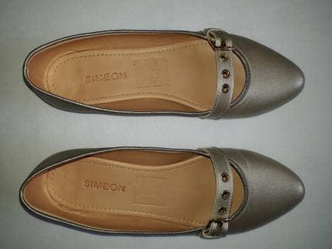 Baletas Simeon color perla