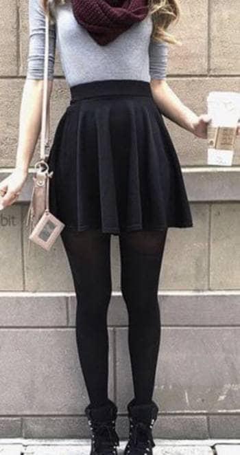 6bd12ff0e Falda negra licra - GoTrendier - 236898